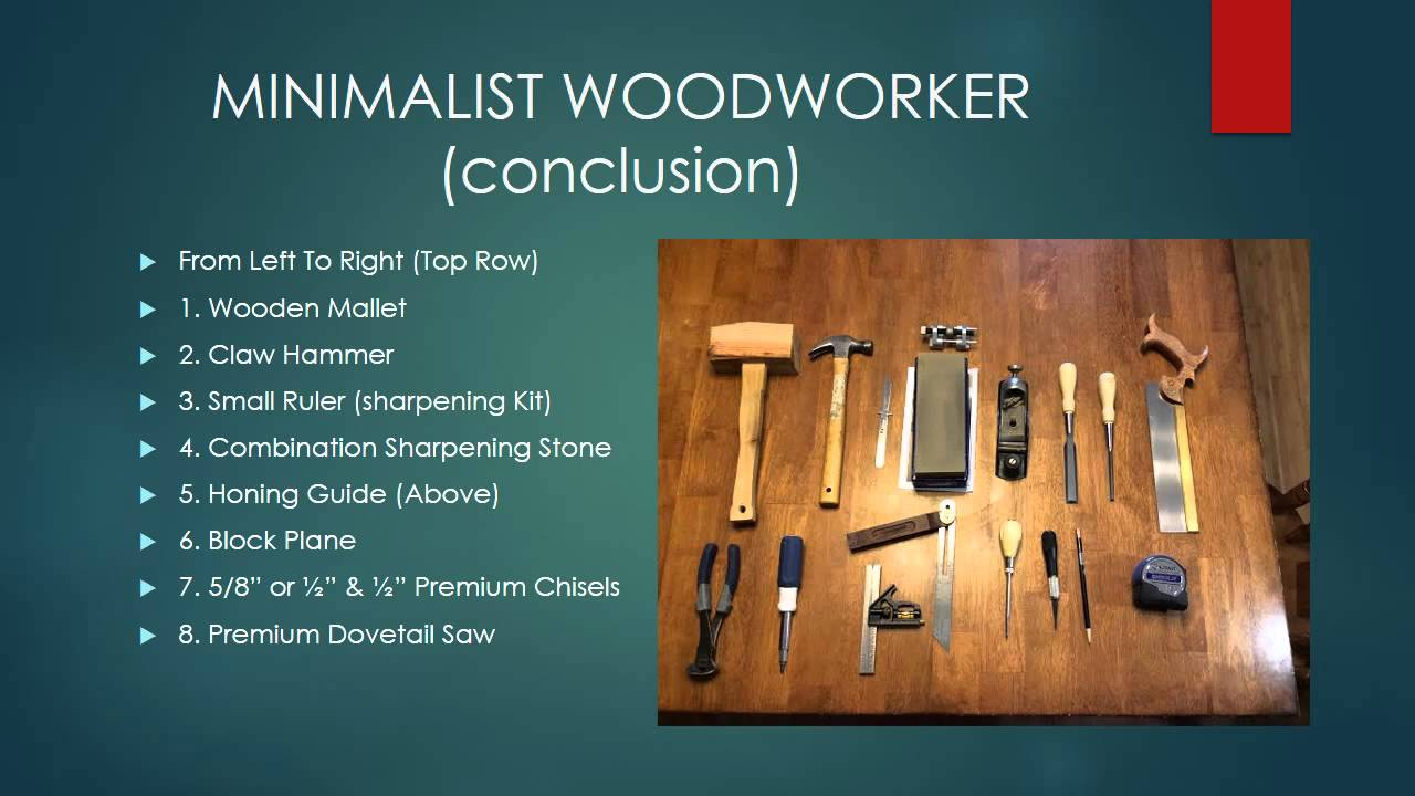 Minimalist Woodworker Tool Set Youtube