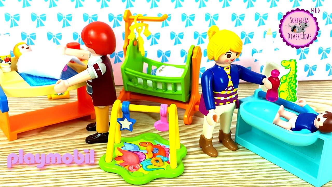 Habitaci n de beb s de playmobil dollhouse special plus youtube - Gran casa de munecas playmobil ...