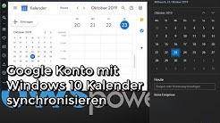 Gmail Konto mit Windows 10 Kalender synchronisieren