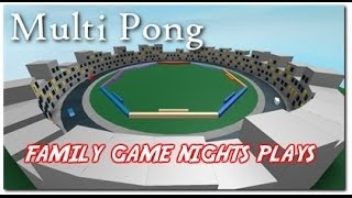 Family Game Nights Plays: Roblox - MultiPong (PC)