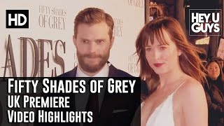 Fifty Shades of Grey UK Premiere Highlights