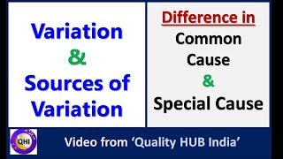 variation sources of variation – common cause vs special cause