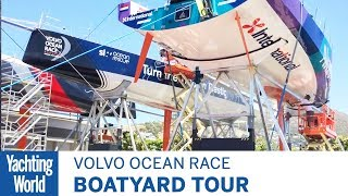 Volvo Ocean Race Boatyard tour with Dongfeng boat captain Graham Tourell