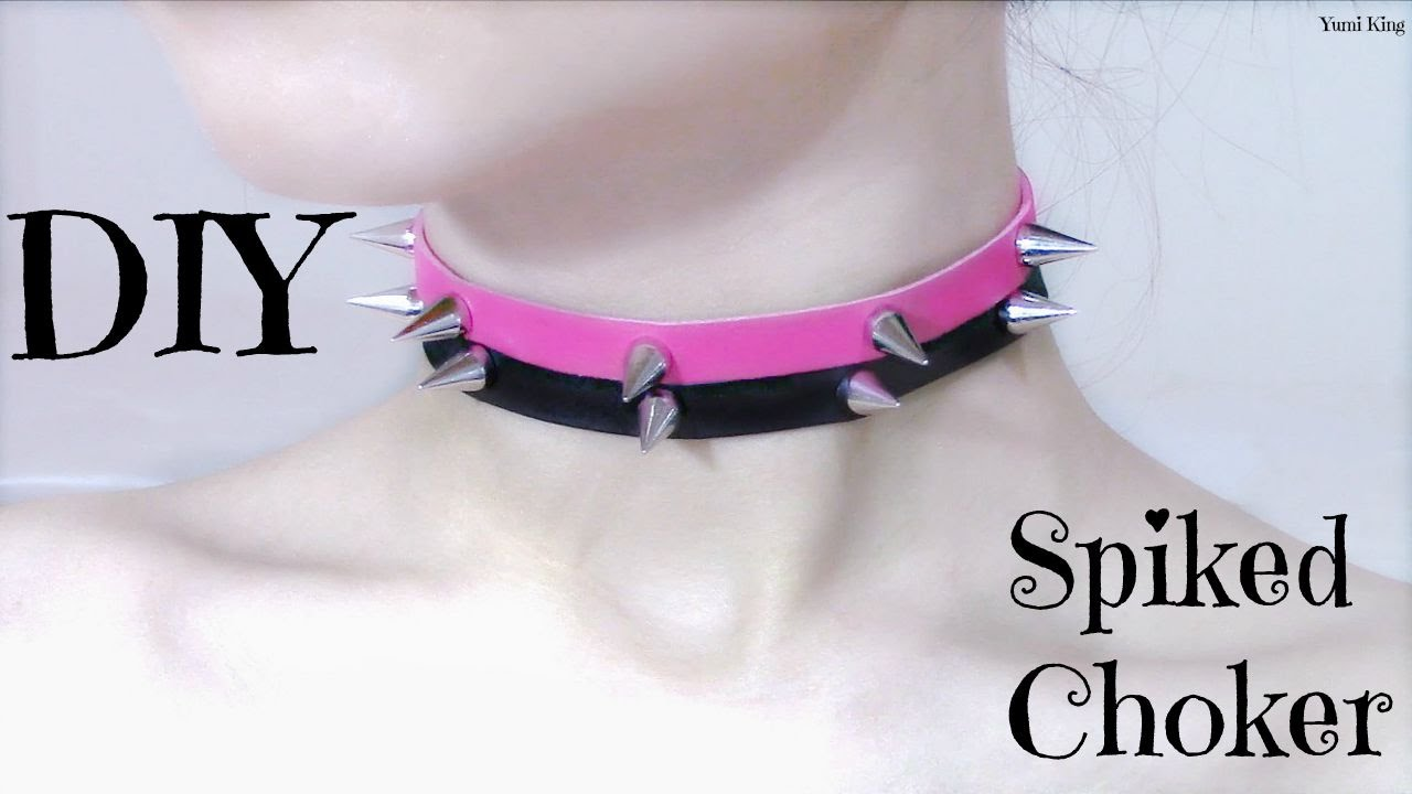 Diy spiked chokercollar pastel goth youtube solutioingenieria Images