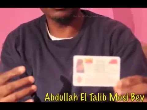 Taj Tarik Bey: Moorish American - Nationality ID Card !