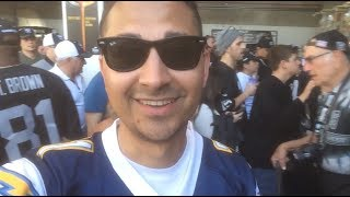Chargers Fan Attends A Raiders Game
