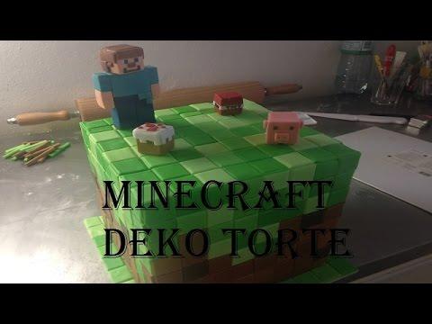minecraft deko torte fondant white icing konditor show rezepte kuchen rezept 2015 youtube. Black Bedroom Furniture Sets. Home Design Ideas