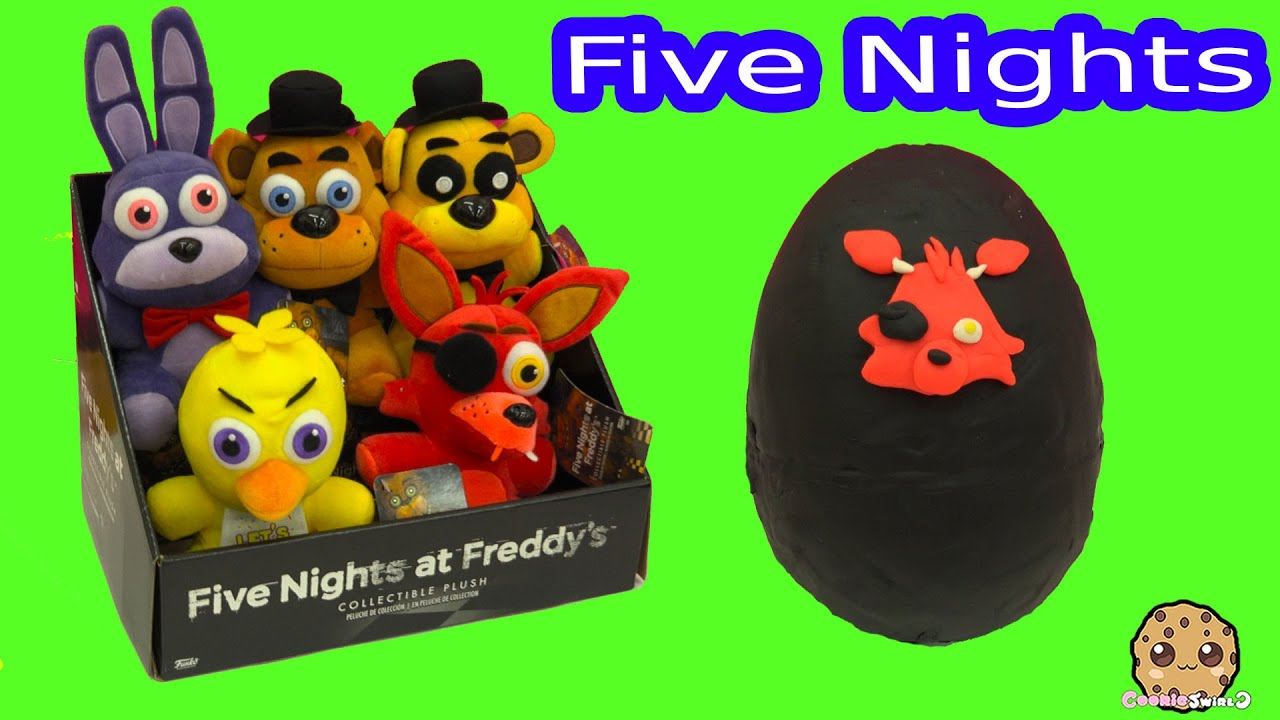 Five Nights At Freddy S Plush Amp Surprise Playdoh Egg Amp 3