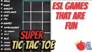 Esl Games That Are Fun | Super Tic Tac Toe | Easy Esl Games