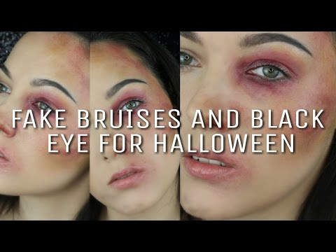 EASY HOW TO: SFX FAKE BLACK EYE AND BRUISES FOR HALLOWEEN