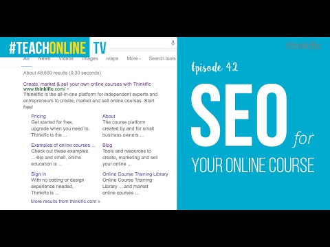 Optimizing Your Online Course For SEO