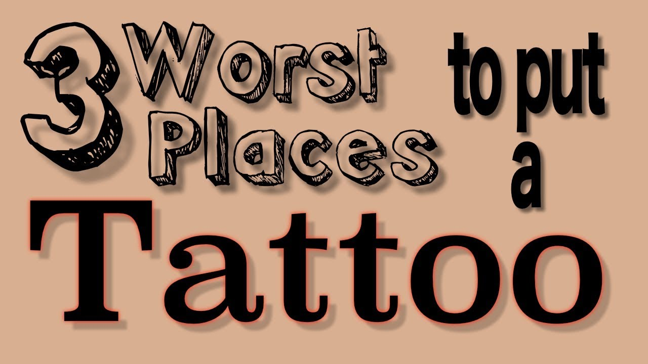 Worst place to get a tattoo it could cost you your job for Worst place to get a tattoo