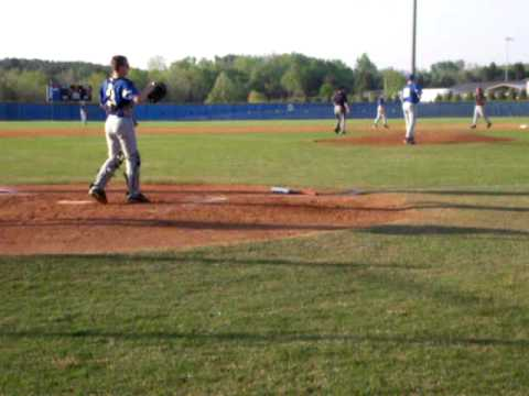 Jared Parker on the mound gets the strikeout