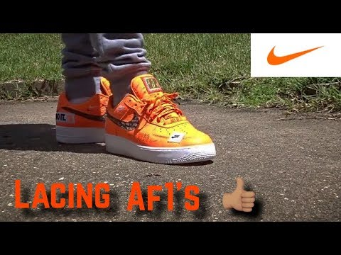 How To Lace Air Force One's