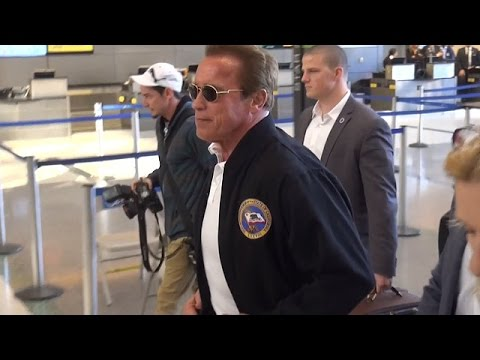 Arnold Schwarzenegger Smiles When Asked About Son Patrick and Miley Cyrus