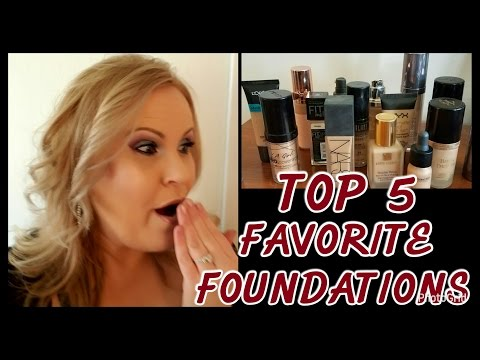 TOP 5 FAVORITE FOUNDATIONS & MY FOUNDATIONS FOR MATURE COMBO TO DRY SKIN OVER 40 | NARS, URBAN DECAY