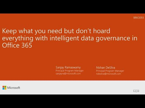 Keep what you need but don't horde everything with intelligent data governance in Office 365 |
