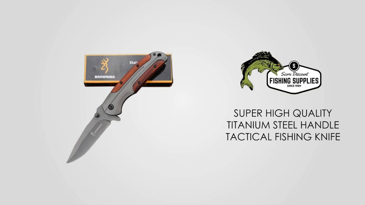 Download SUPER HIGH QUALITY TITANIUM STEEL HANDLE TACTICAL FISHING KNIFE