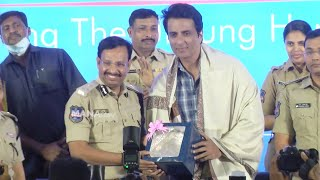 Cyberabad Traffic Police Annual Conference 2021   Sonu Sood   Smita   Anup Rubens