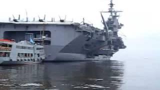 Roilo Golez, tour U.S. aircraft carrier, USS George Washington, 14 August 2009 (13)