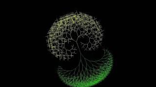 関数を再帰的に呼び出すことによって作られるTreeという曲線をと用いたアニメーション。前半は植木鉢から木が成長していく様子を示し、後半は...