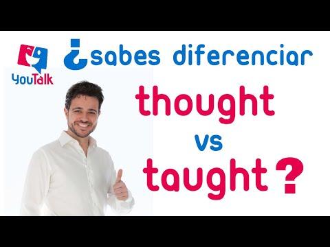 Pronunciación -ough -augh verbos irregulares; YouTalkTV Express