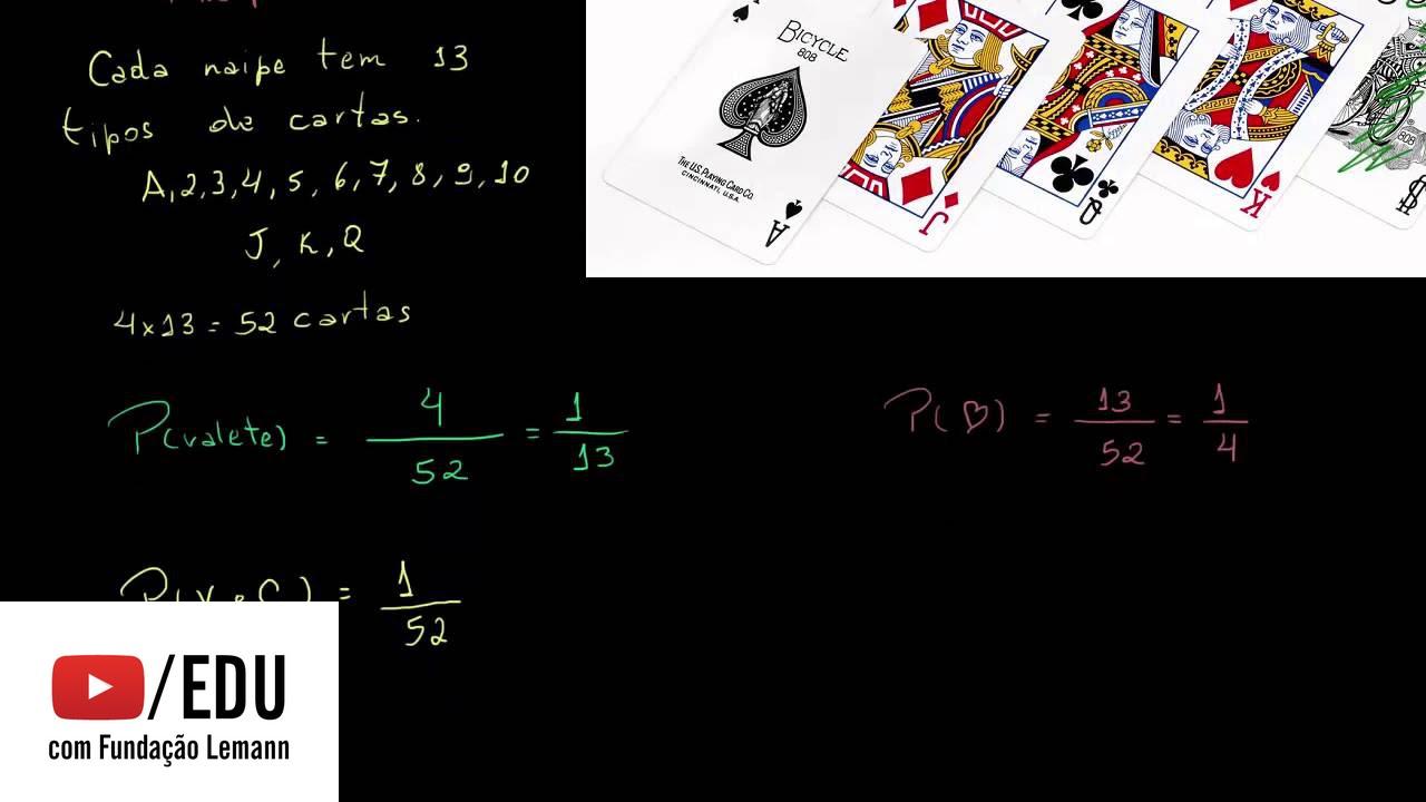 Probabilidade com jogo de cartas e o diagrama de venn youtube probabilidade com jogo de cartas e o diagrama de venn ccuart Choice Image
