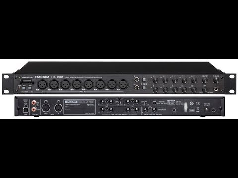 tascam us 1800 demo 18 channel usb audio interface with 8 xlr inputs youtube. Black Bedroom Furniture Sets. Home Design Ideas