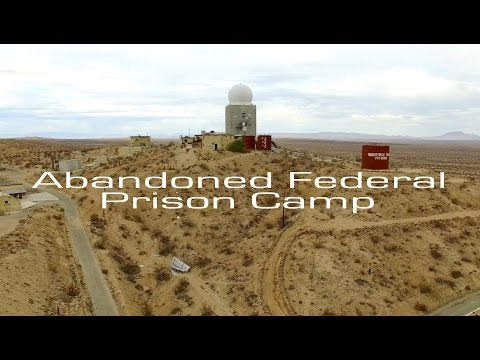 Abandoned Federal Prison Camp - Mojave Desert - Aerial