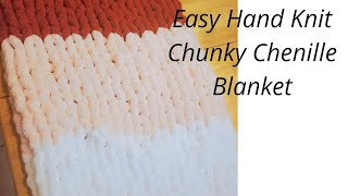 How To Hand Knit a Chunky Blanket -Beginner Knitting Tutorial