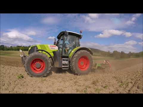 Déchaumage 2018 - Claas arion 620 - AMAZONE Catros 3001