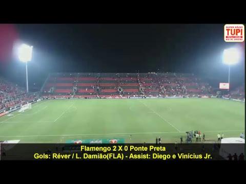 Flamengo 2 x 0 Ponte Preta - 7ª Rodada - Brasileirão - 14/06/2017