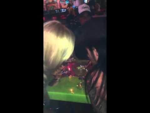 Ashley Purdy & a girl finishing CC's drink