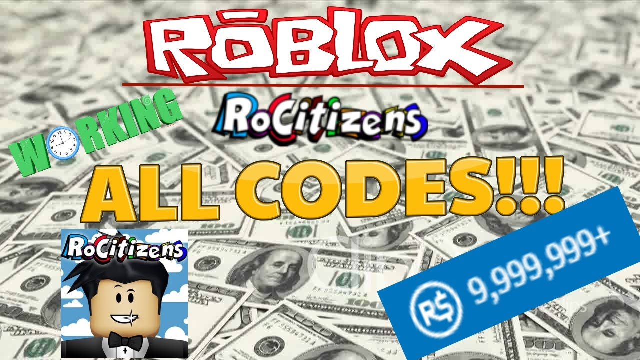 Rocitizens All Of The Money Codes Working December 2016 Roblox You