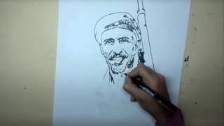 رسم رجل يمني اصيل Drawing a Yemeni man