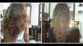 Mixed Hair | Mixed Curly Hair Left to Air Dry using OXX System Hair Products. Package 1