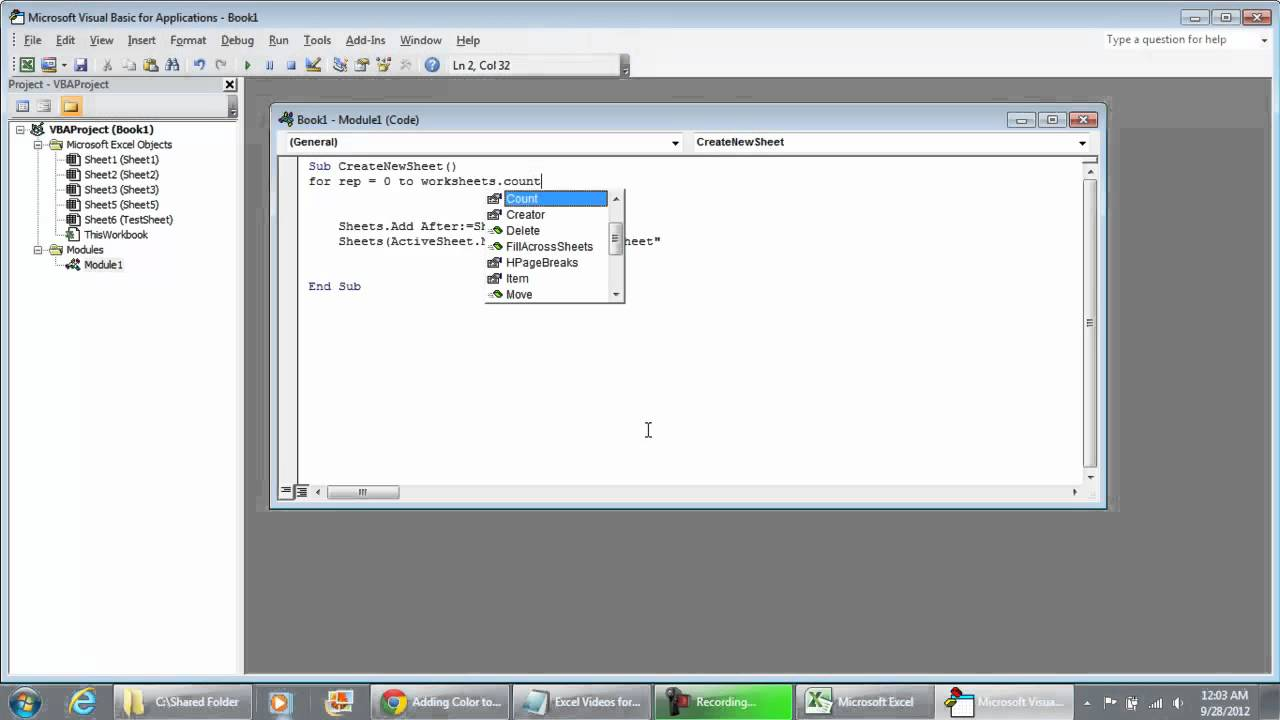 Cre Te New Sheet Nd Ren Me W Ksheet Us G Vb Excel 2010