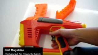 Nerf Magstrike (Enhanced Air Capacity Mod) - Test Fire