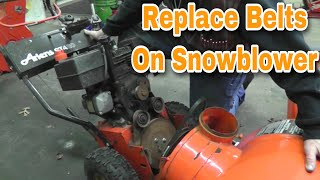 How To Replace Belts on 2-Stage Snowblower or Snow Throwers - with Taryl