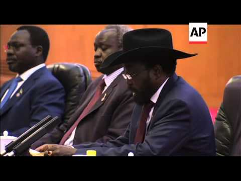 Chinese President Meets President Of South Sudan