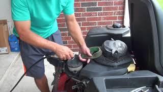 Zero turn Kohler engine cleaning air filter