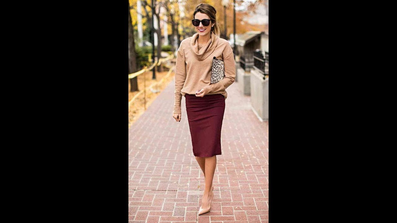 e3199fd839e6 Chic way to Wear a Skirt in winter - YouTube
