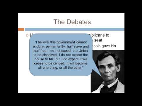 APUSH Review: The Lincoln-Douglas Debates