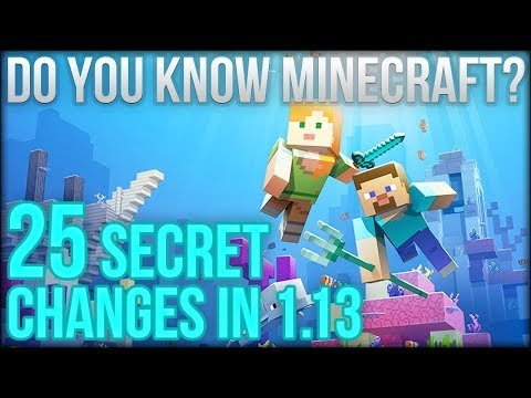 25 Secret Changes In Minecraft 113 Update Aquatic  Do You Know Minecraft?