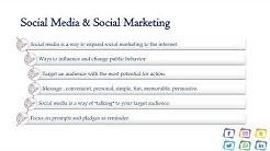 Power point Presentation Social Media Marketing