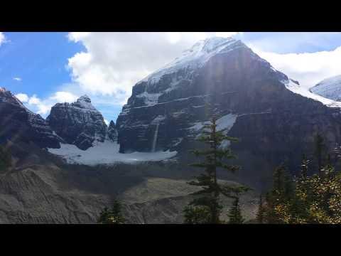 Victoria Glacier, a little avalanche.