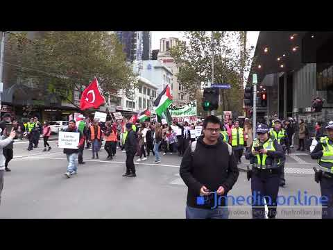 The March of Melbourne's pro-Palestinian community