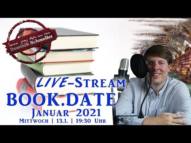 Book.Date Januar 2021 - LIVE-STREAM - Schreibtischbericht, Lesemonat, Fantasy News und vieles mehr