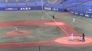 山崎康晃 杉本裕太郎を中飛に打ち取る 20130908