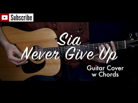 Sia - Never Give Up ( Lion Soundtrack) guitar cover/guitar (lesson/tutorial) w Chords /play-along/